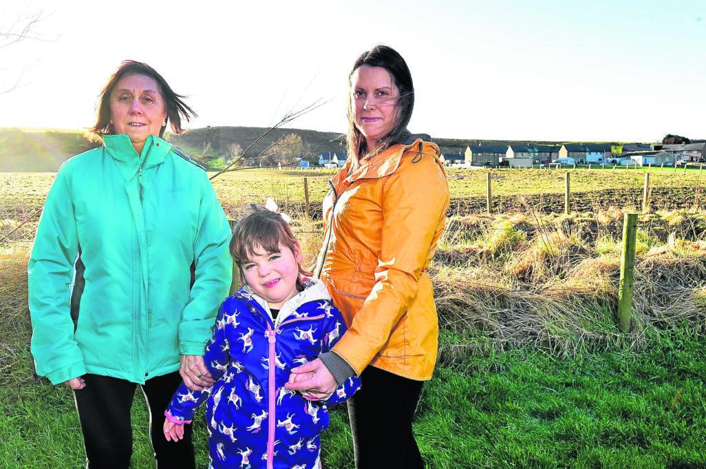 Sandend Caravan SIte owner Jane Winfield with daughter Sarah Dawson and granddaugher Annabel