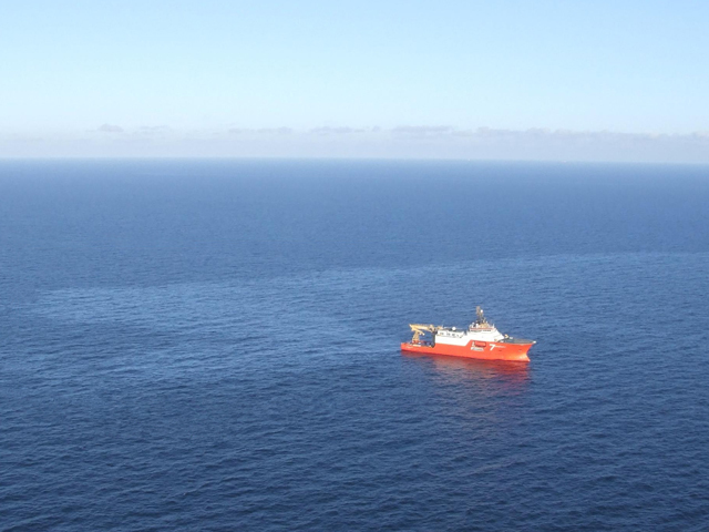 Oil spilled from the Gannet Alpha in 2012