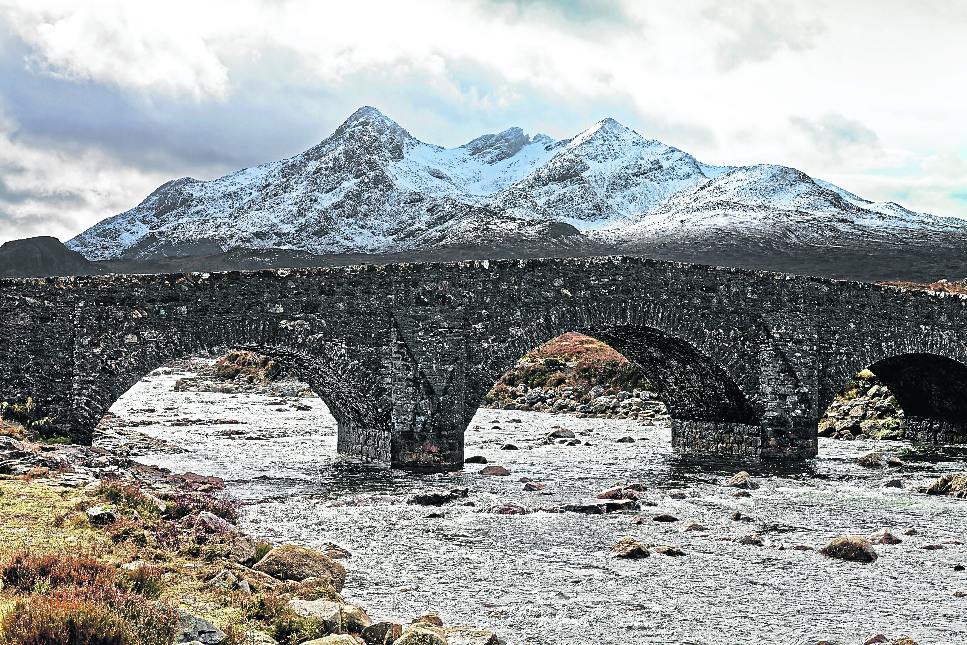 The Cuillin Ridge route is seven-and-a half miles long