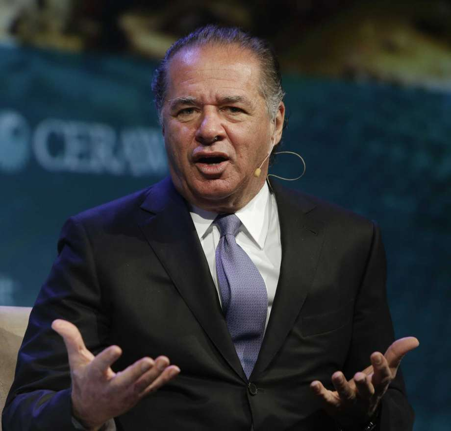 Charif Souki, chairman of Tellurian, speaks during CERAWeek by IHS Markit Wednesday, March 8, 2017, in Houston. ( Melissa Phillip / Houston Chronicle )