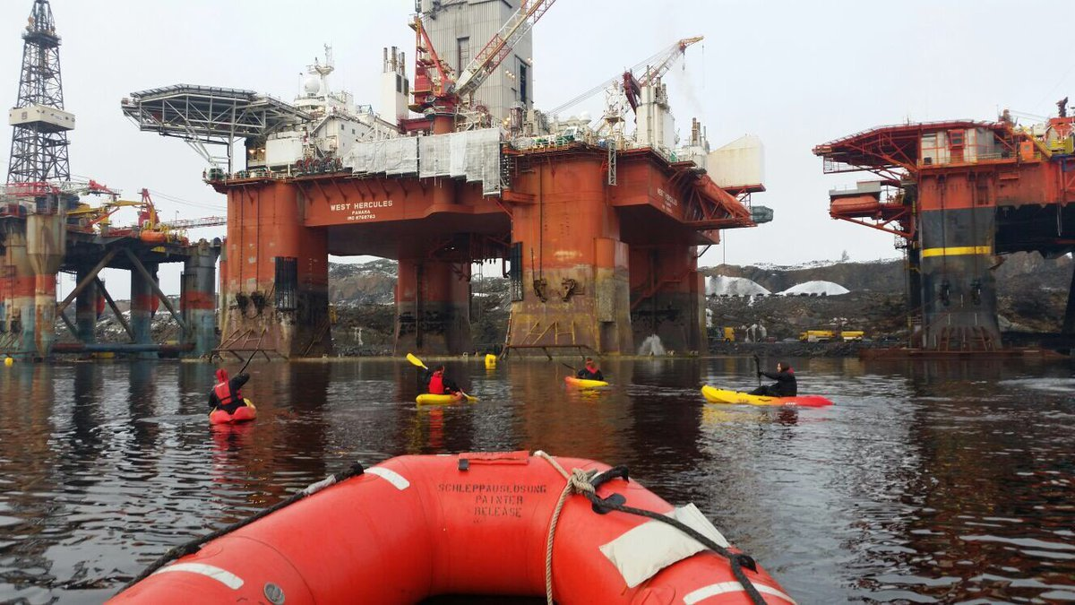 Greenpeace activists in Norway