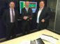 L to R: Graham Gillies; Gerry McGurk, VP Projects for Mauritania and Senegal, BP; Scott Munro, VP Americas, Europe and Africa, McDermott