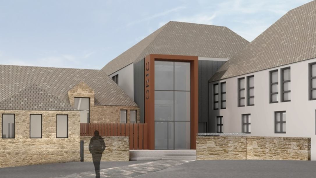 A mock up of Orkney's new research and innovation campus.