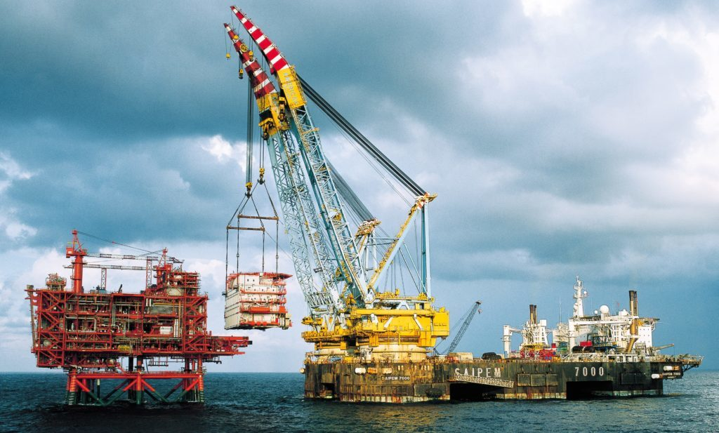 The Saipem 7000 crane vessel