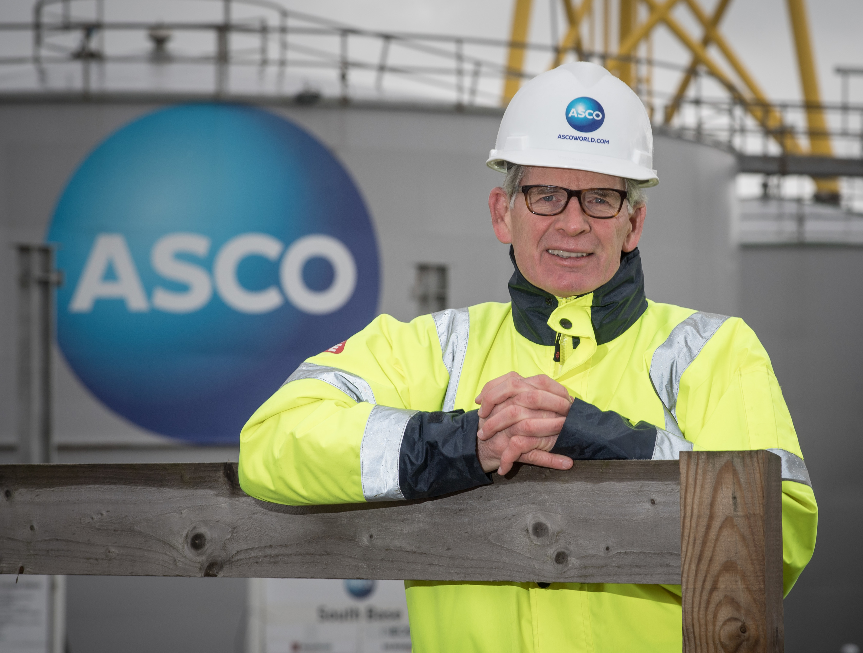 Aberdeen,  Scotland, Thursday 29th March 2018   Pictured is Alan Brown, CEO of ASCO at Peterhead South Base.  Picture by Michal Wachucik / Abermedia