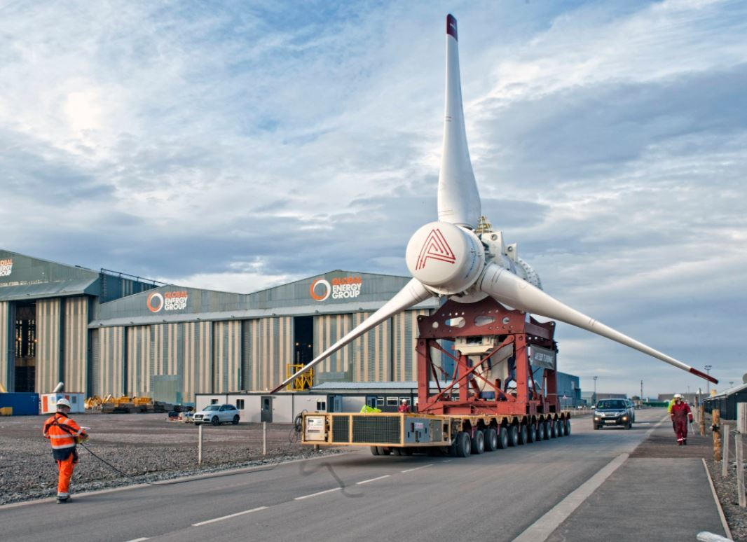 A turbine for the Simec Atlantis  MeyGen project.