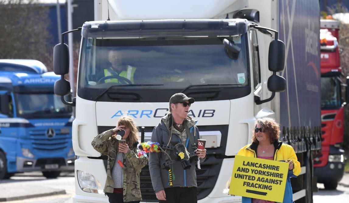 Fracking protest at ARR Craib, Dyce.