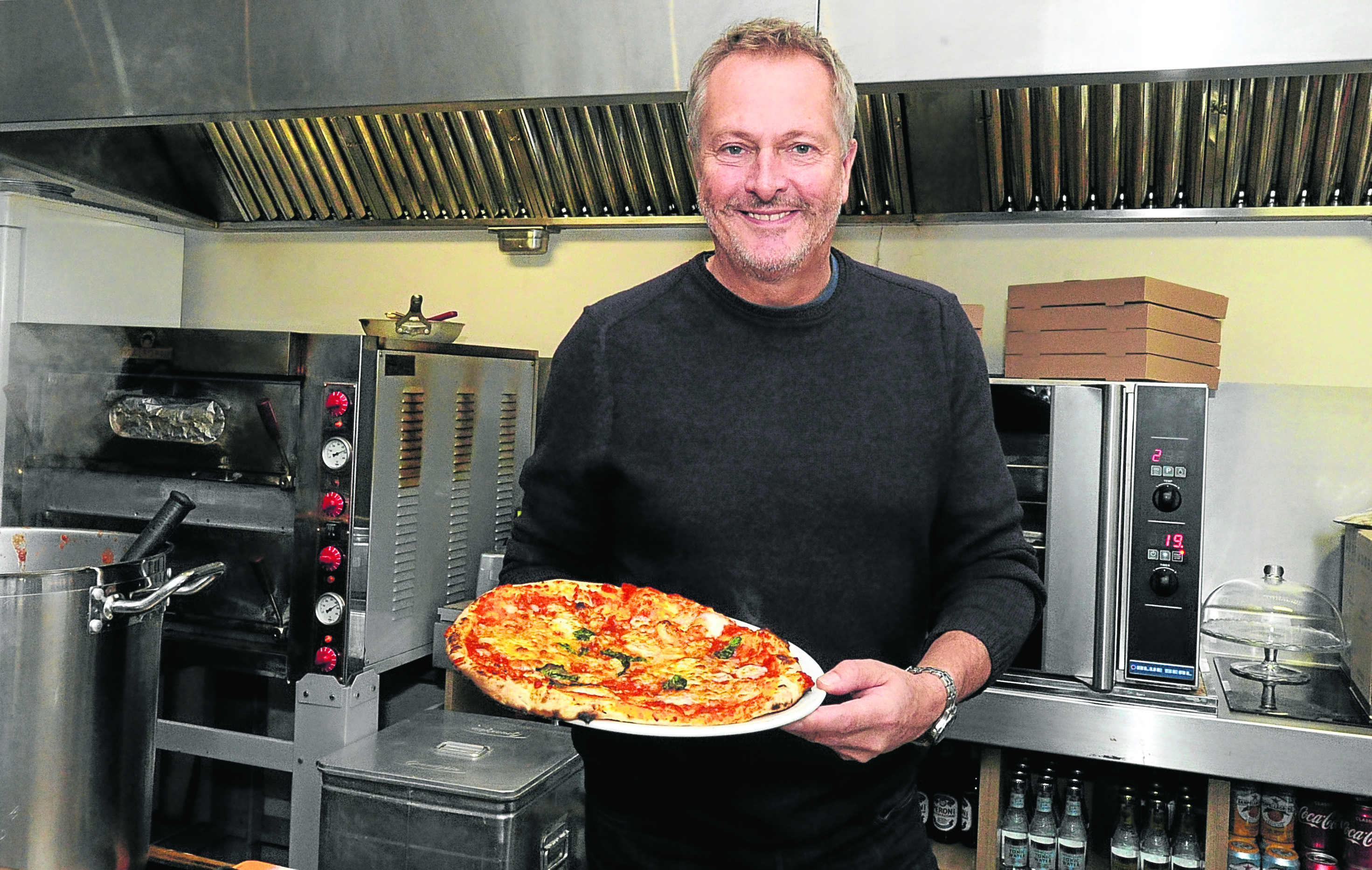 Nick Nairn, Pizza bar and Cafe, Back Wynd, Aberdeen.