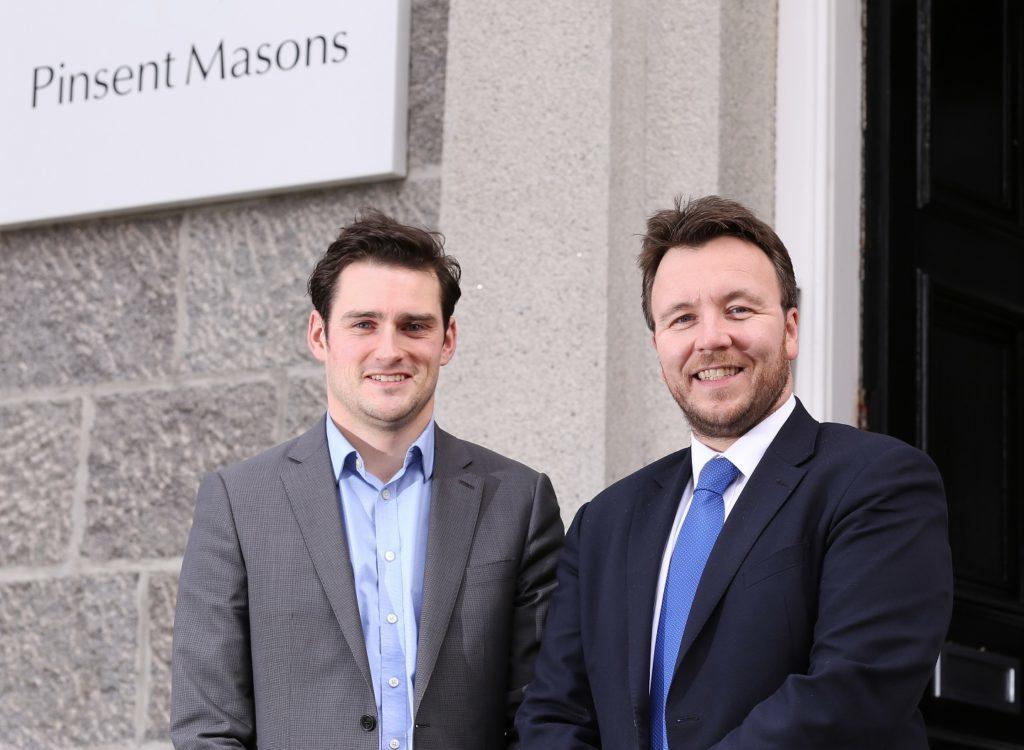 Pinsent Masons Partner Martin Ewan (left) with TechX delivery manager Stuart MacKinven