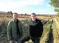Moray MP Douglas Ross, right, at Knockando windfarm site with local businessman Joerg Bondzio who fears for his livelihood