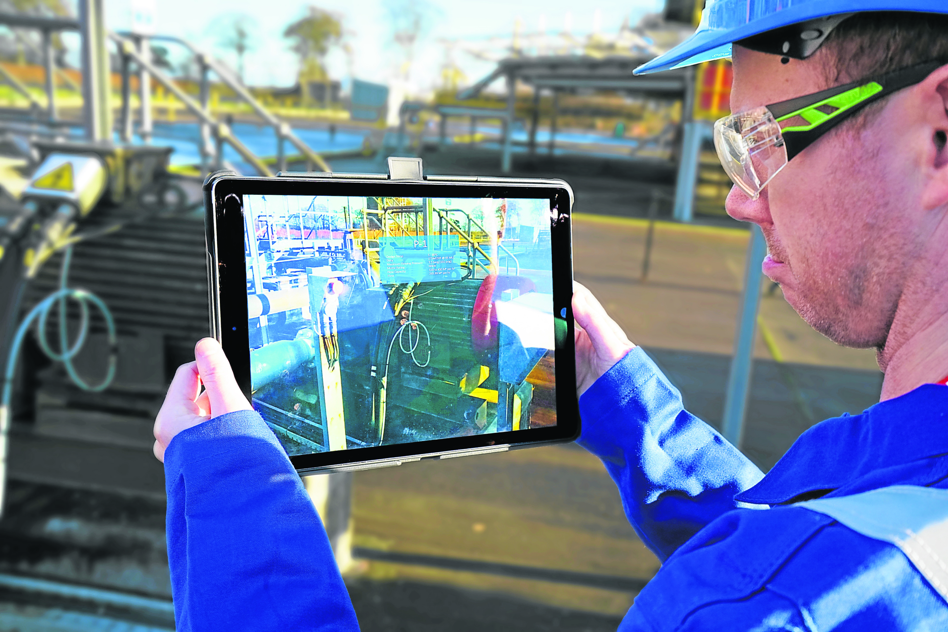 Immersive technologies, such as those photographed, are making progress towards being accepted by oil and gas