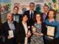 Shell Springboard Awards and Networking 2018 at Aberdeen Exhibition and Conference Centre (AECC). Picture of winners (L-R) Benjamin Sallon, Adrian polak, Rebecca Lewis, John MacArthur, Franziska Srocke, Alex Bak and Matt Taylor.