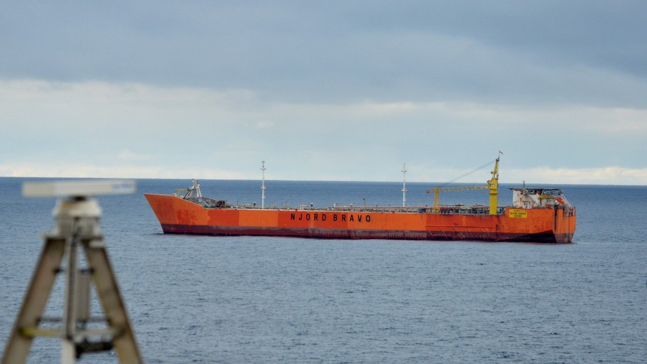 The Njord Bravo storage and offloading vessel.