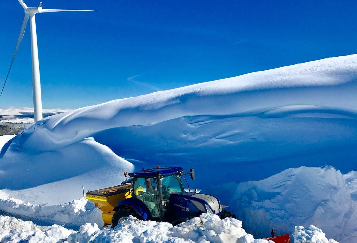Becon Consultancy, winter maintenance on an SSE wind farm
