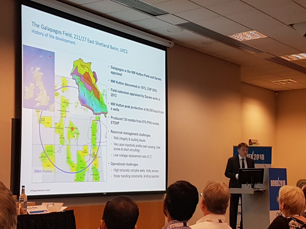 Matt Mulcahy from Bridge Petroleum at the Devex Conference earlier this month.