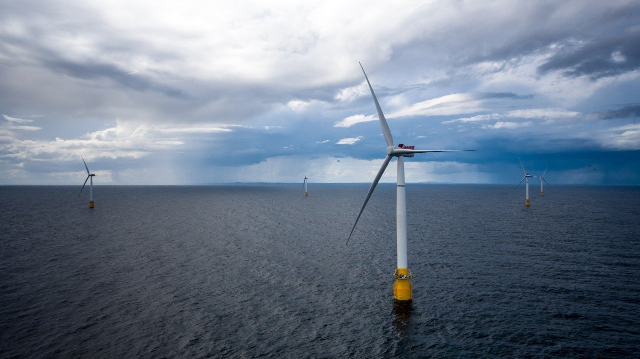 The pioneering Hywind project off Peterhead was opened by Equinor and Masdar in 2017