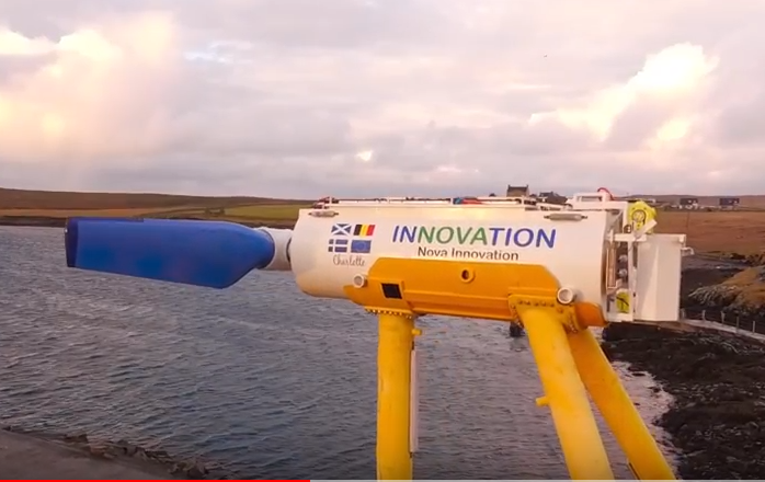 Nova Innovation's Shetland tidal project.