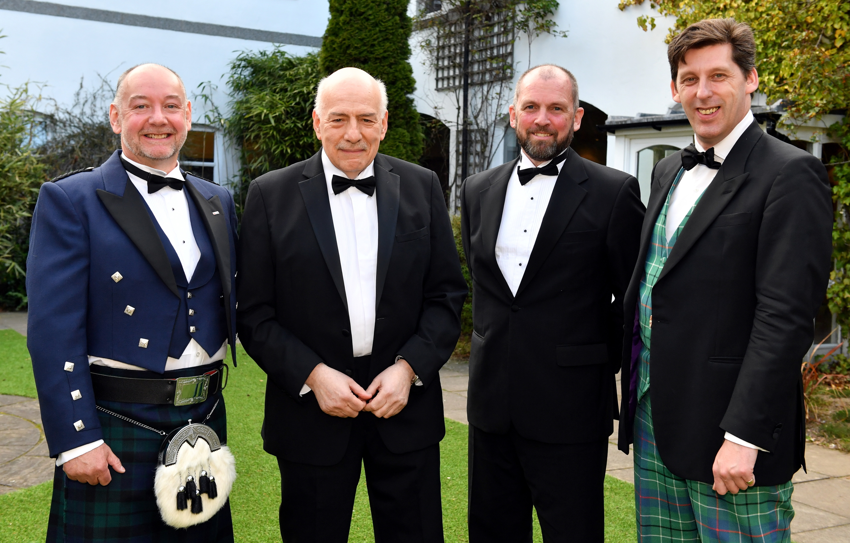 The annual Energy Institute dinner at the Marcliffe Hotel.      Pictured - L-R Chairman Laurie MacKay with speakers Tim Sebastion (BBC), Graham Stewart (CEO Faro) and Lord Ian Duncan of Springbank (Under Secretary of State for Scotland).