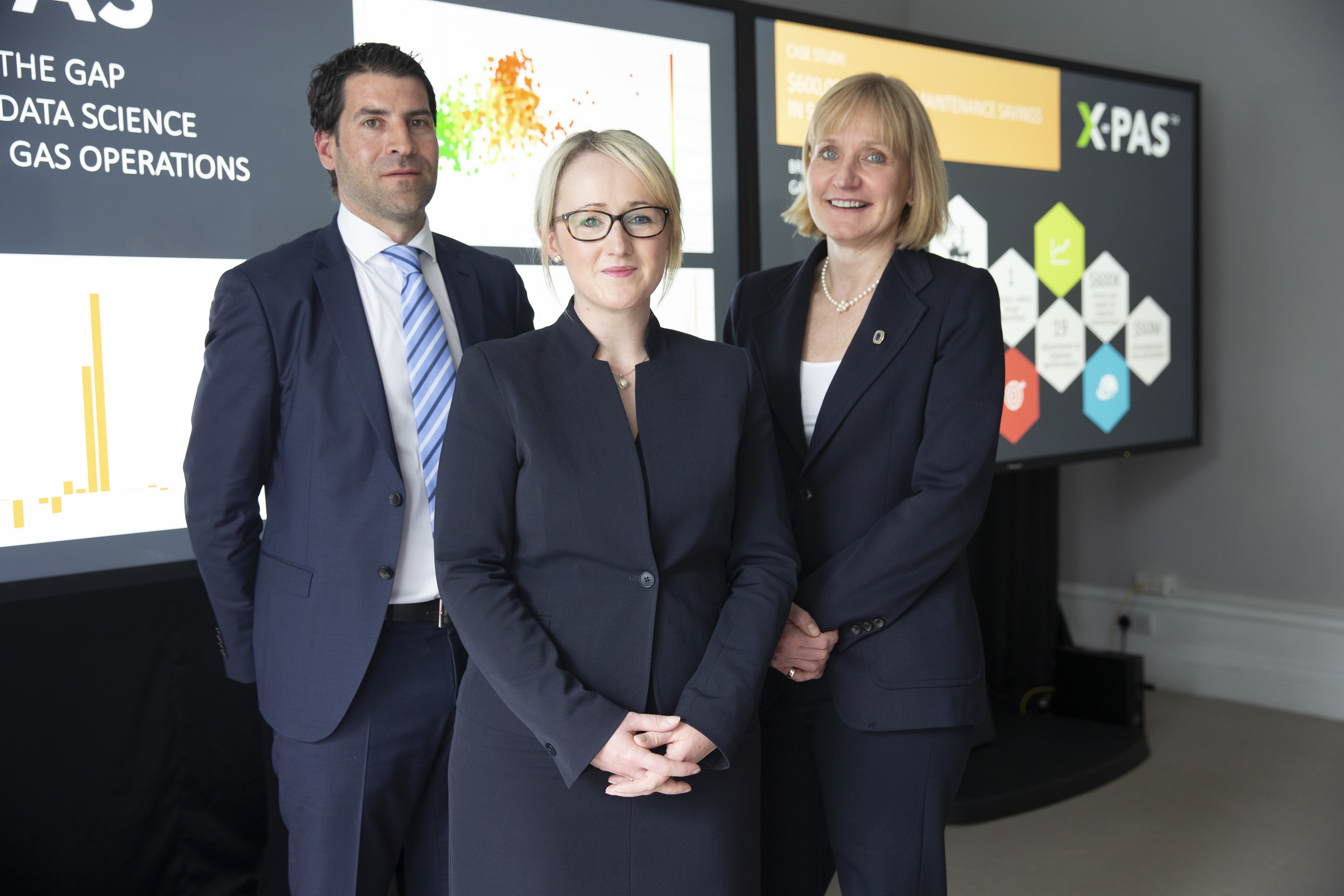 Jamie Bennett, CEO OPEX Group, Rebecca Long-Bailey, Deirdre Michie, CEO Oil & Gas UK