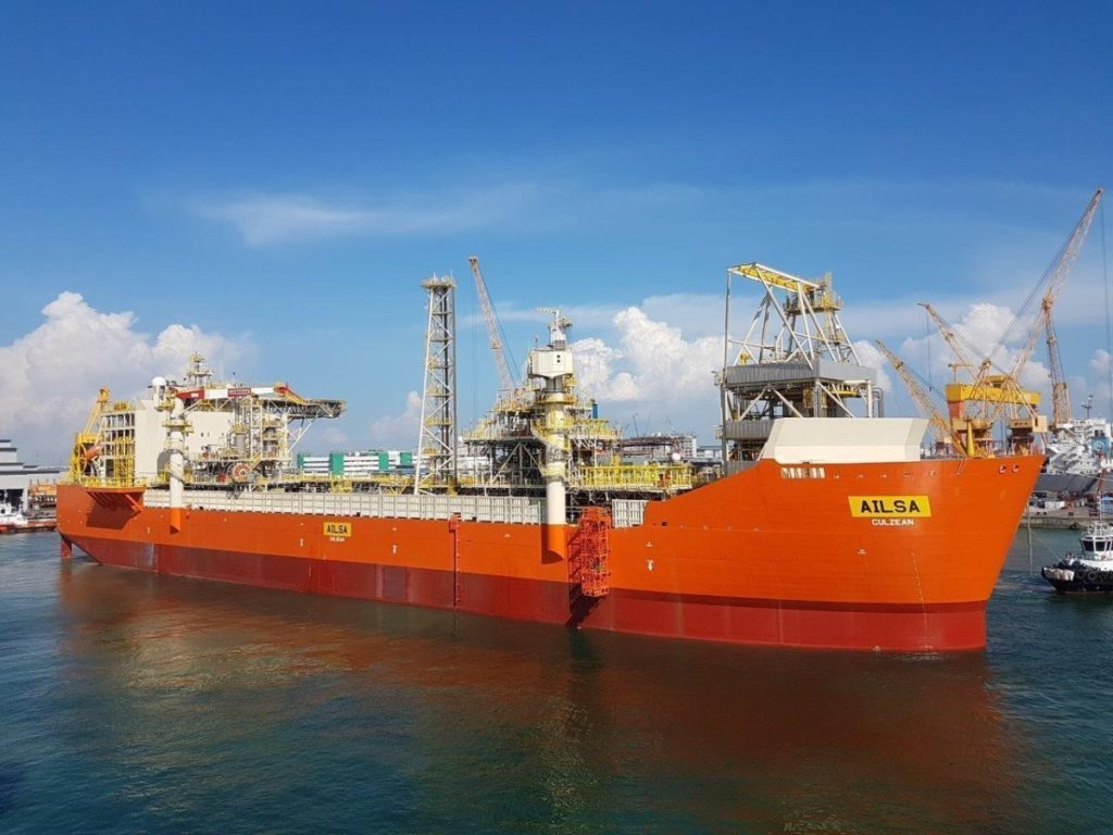Ailsa can store up to 430,000 barrels of condensate at a time