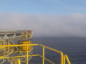 Haar closes in on North Sea oil rig