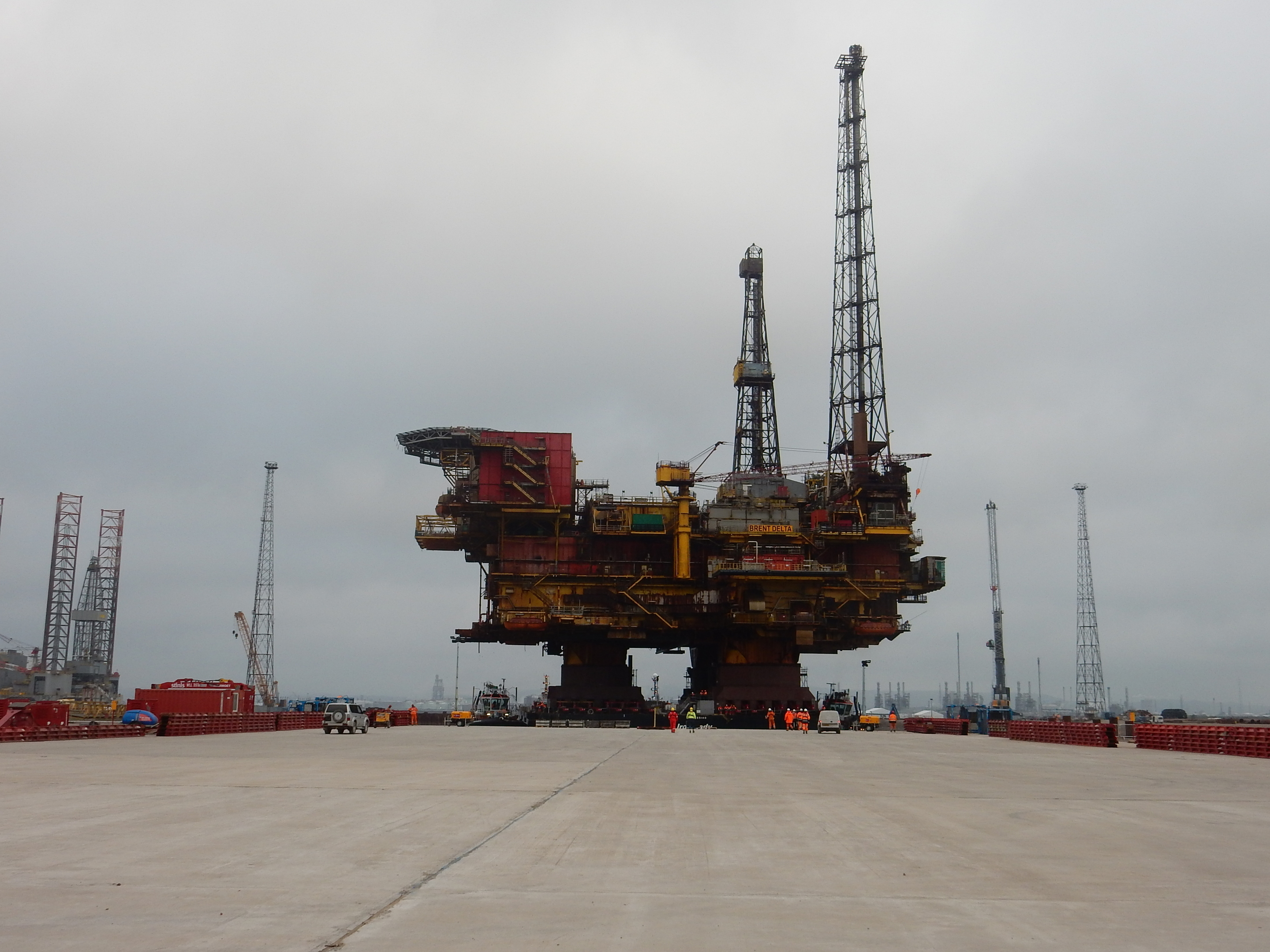 Shell's Brent Delta prior to dismantling work commencing last August.
