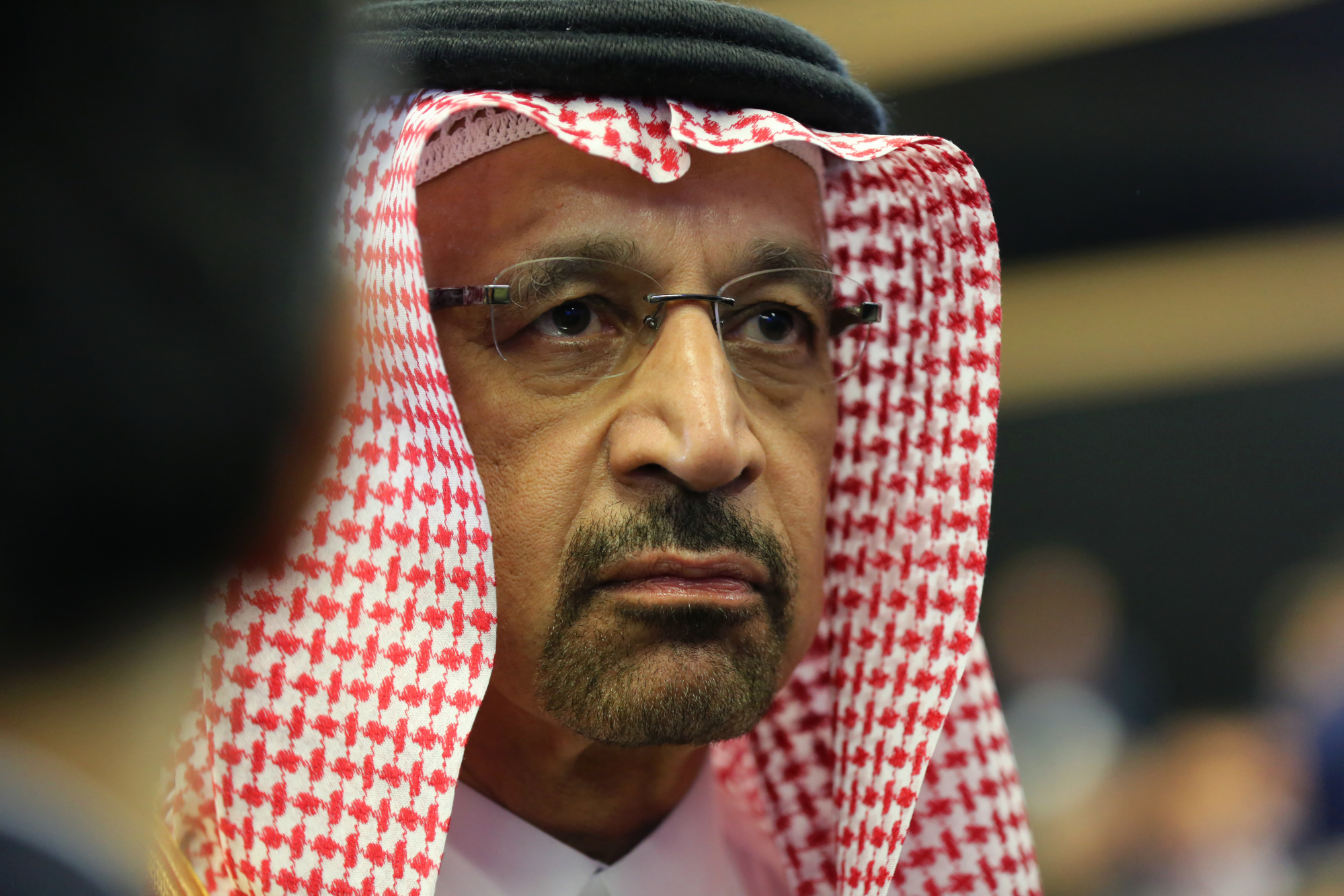 Khalid al-Falih, Saudi Arabia's energy minister, looks on during a panel debate at the St. Petersburg International Economic Forum (SPIEF) in St. Petersburg, Russia. Photographer: Chris Ratcliffe/Bloomberg