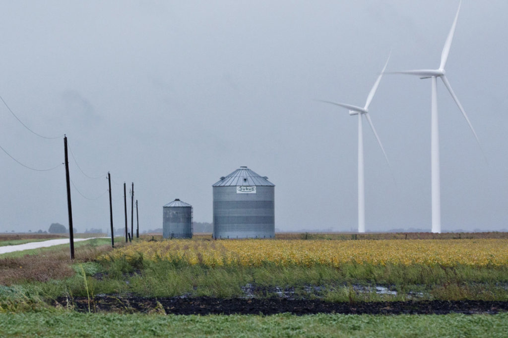 Wind turbines stand on property used by EDP Renewables North America LLC Lost Lakes Wind Farm in Milford, Iowa, U.S., on Thursday, Sept. 15, 2016.  Photographer: Daniel Acker/Bloomberg