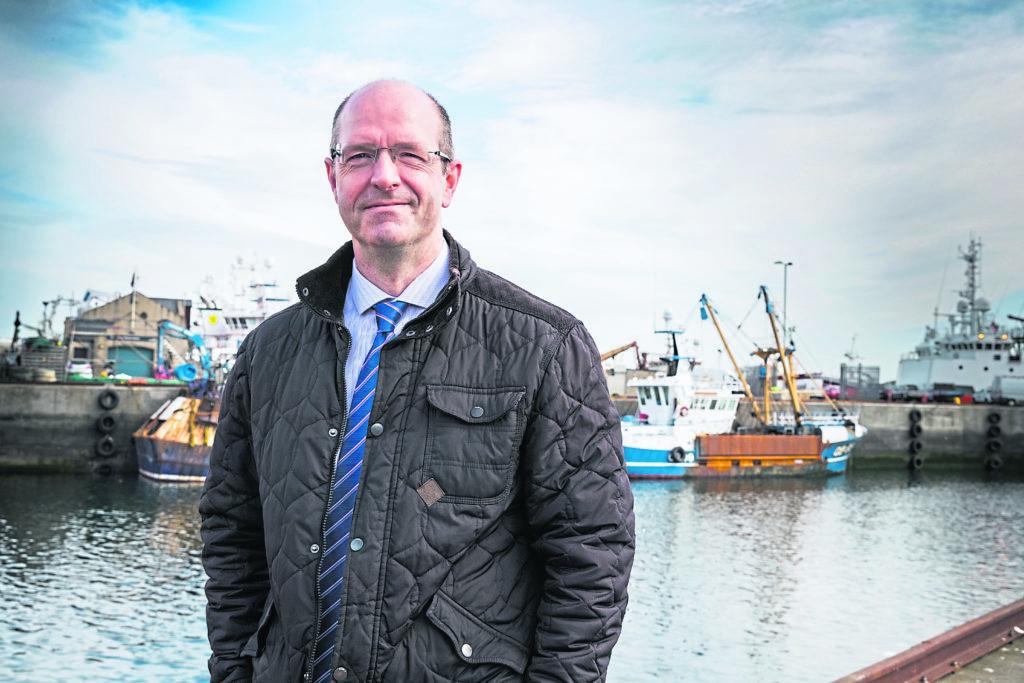 - Fraserburgh Harbour chairman Michael Murray at Fraserburgh Harbour. April 19, 2018.