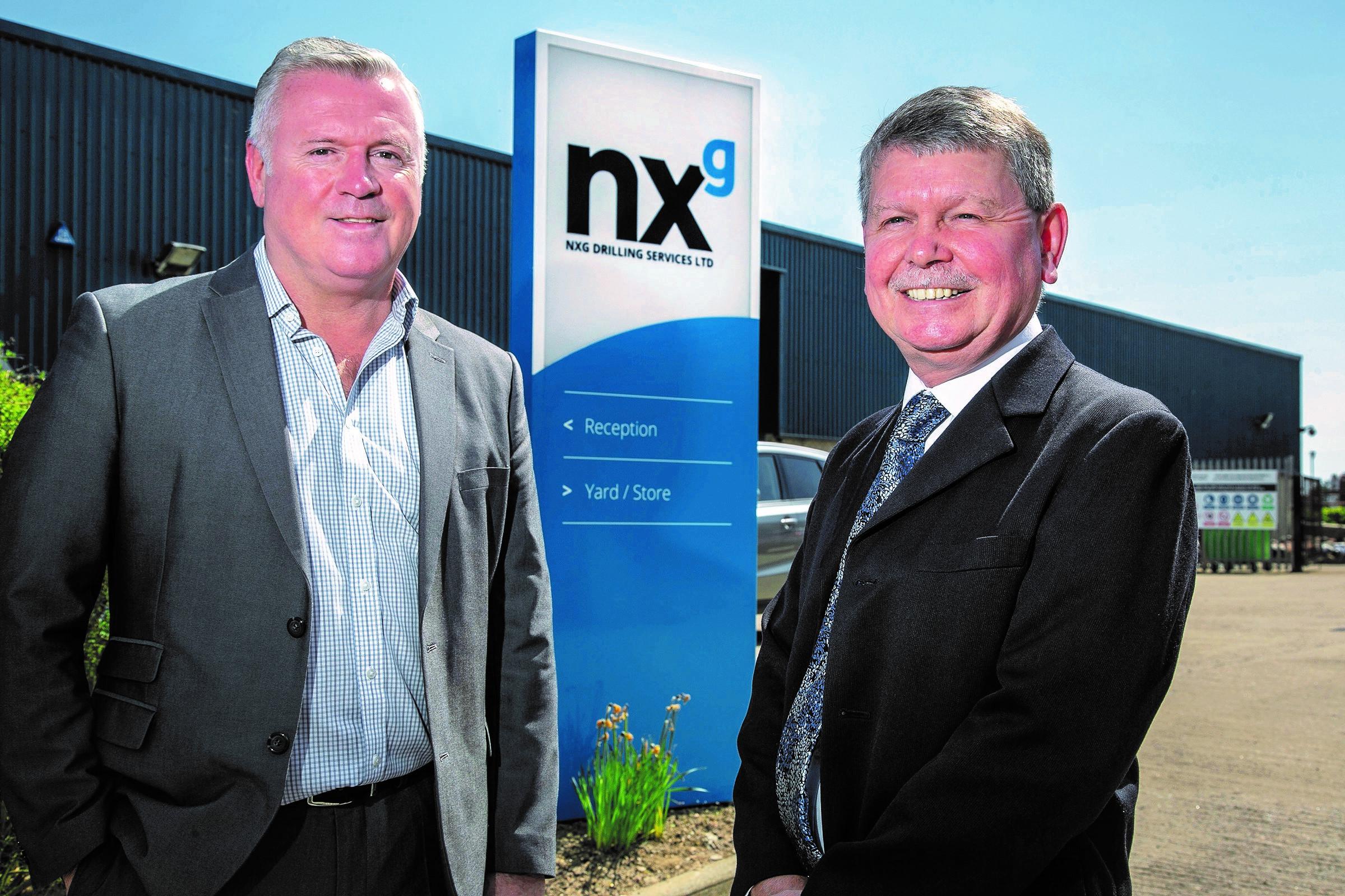 Top team … NXG managing director Rod Coffey, left, with former Weatherford UK managing director Ian McCartney