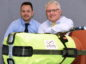 Energy Voice - EV ;  L-R Mark Banks, Business Development Director and Project Manager and Andy McGill, MD, at Infinity with the company's Actuator Safety Gauntlet.
