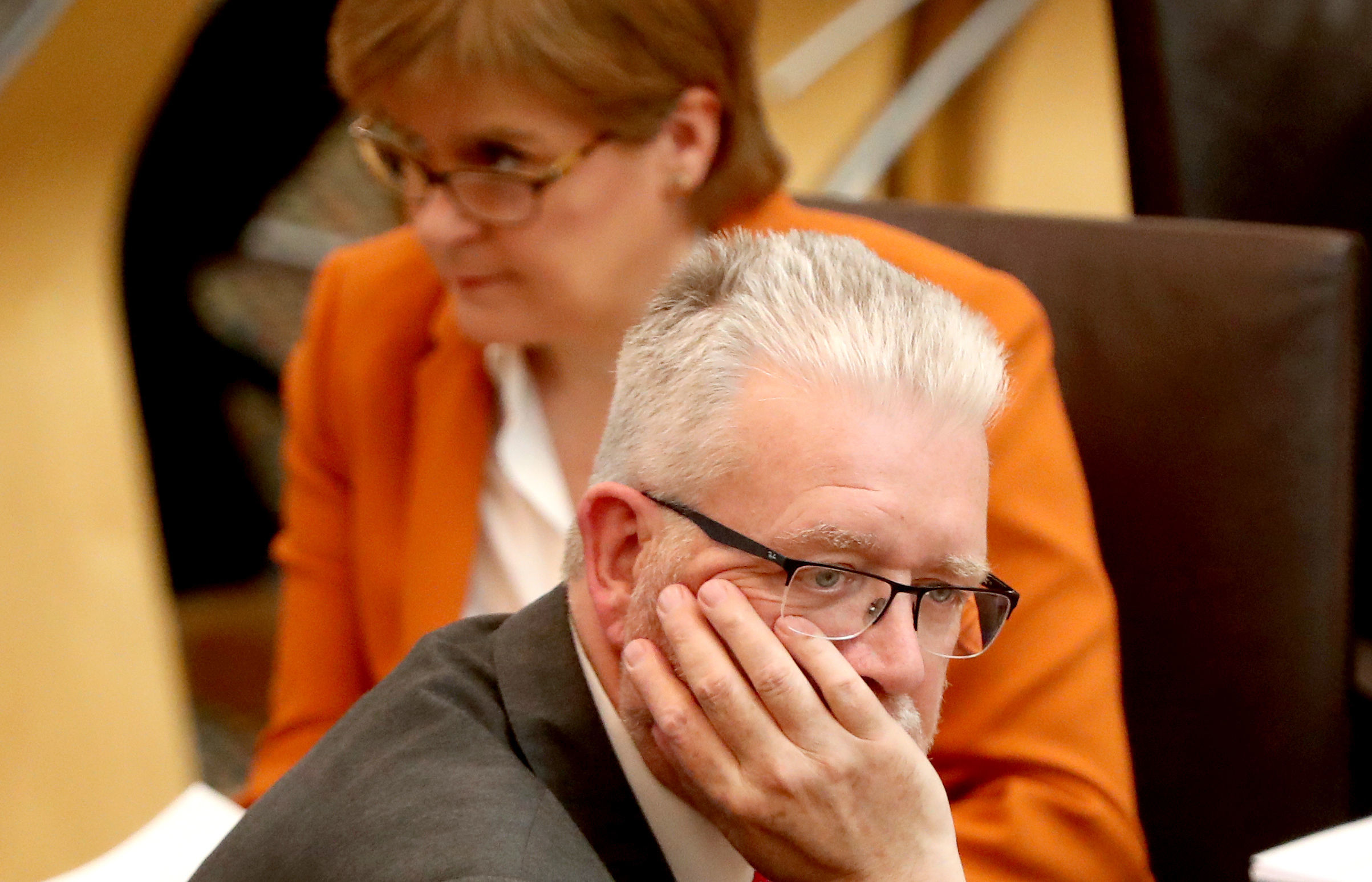 Scottish Brexit Minister Michael Russell during a Scottish Government debate on legislative consent to the EU withdrawal bill at the Scottish Parliament in Edinburgh. PRESS ASSOCIATION Photo. Picture date: Tuesday May 15, 2018. Photo credit should read: Andrew Milligan/PA Wire