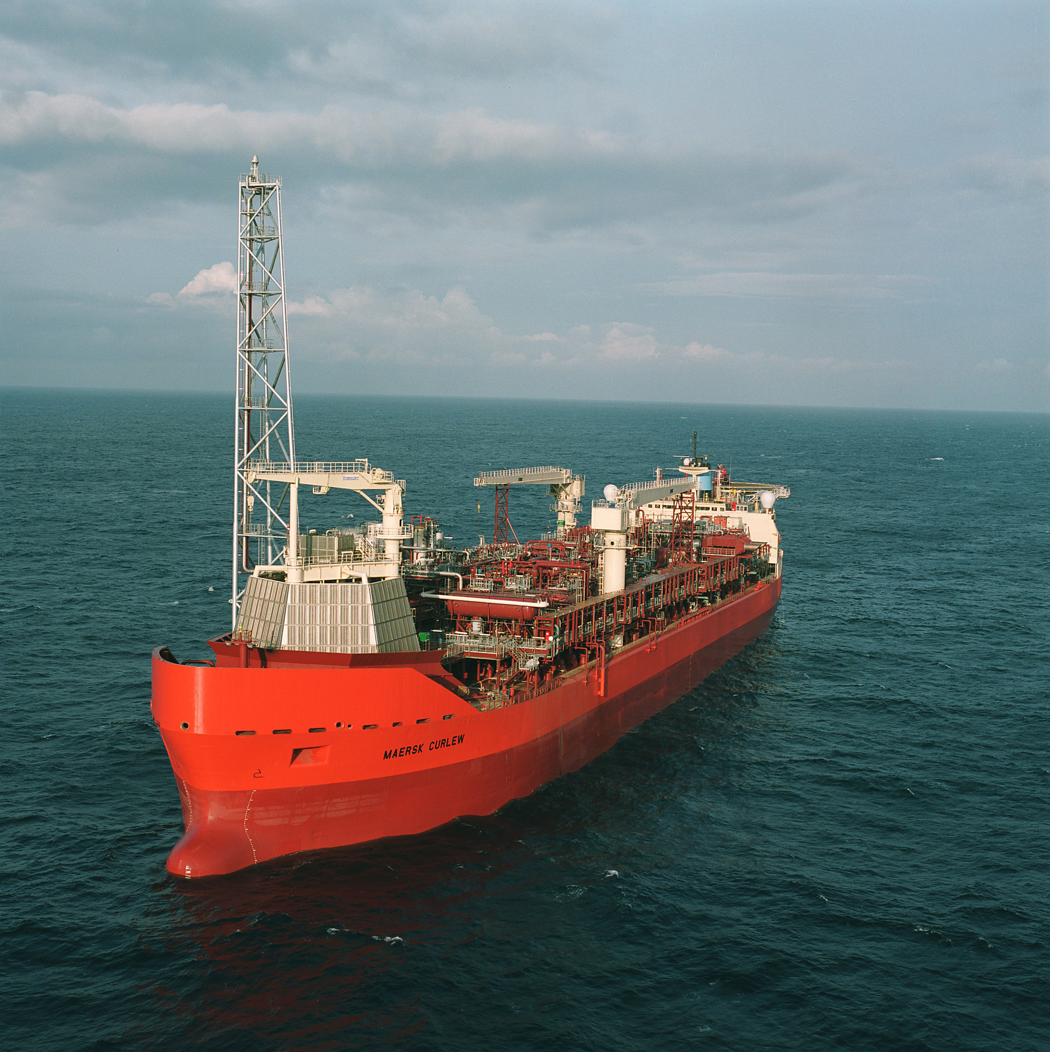 Shell's Curlew FPSO in the North Sea.