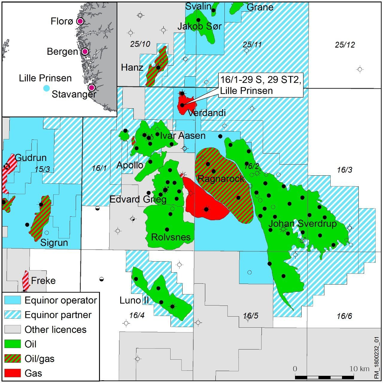 Equinor has made an oil discovery in the Utsira High area.