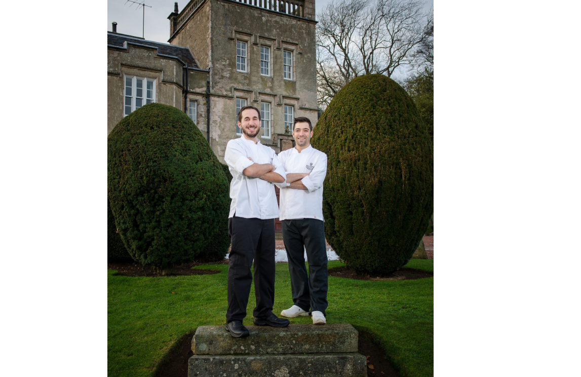 Visiting chefs Afonso Santos (left) and Miguel Feliciano (right)