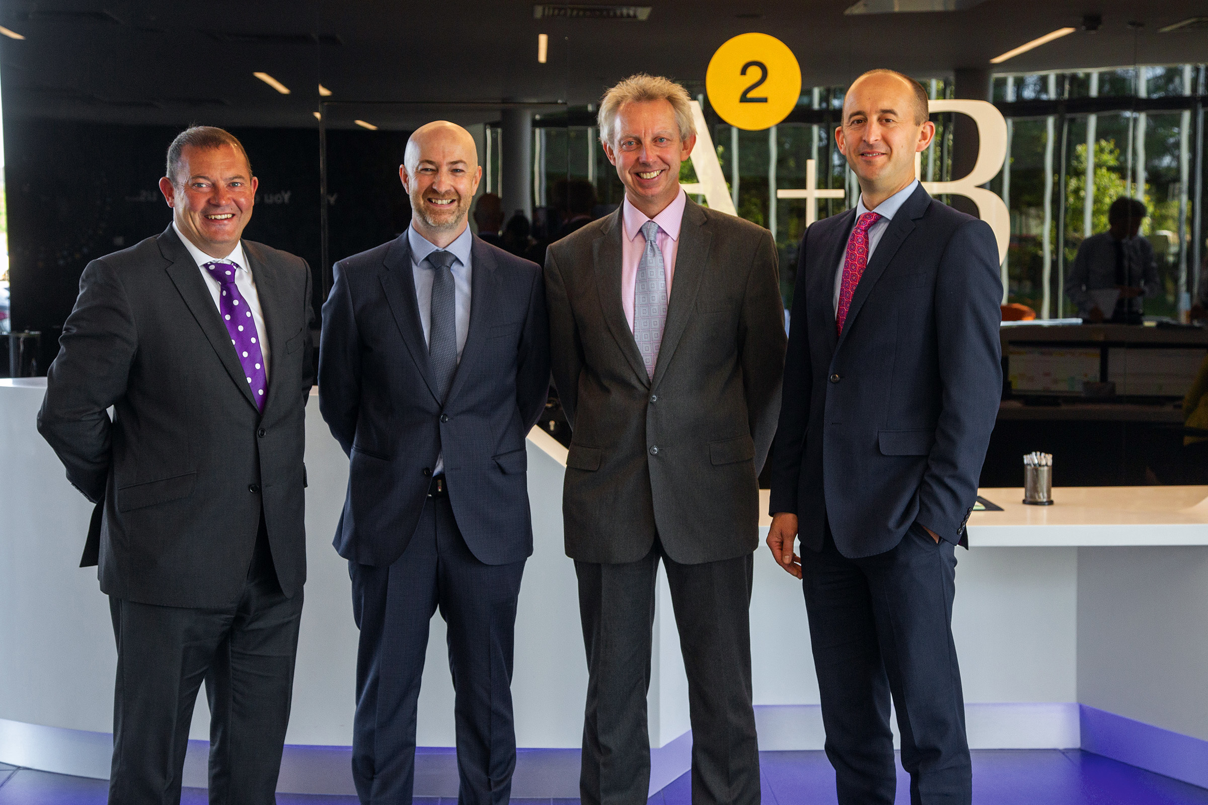 Pictured (from left to right): AAB's Senior Upstream Oil & Gas Team - John Black, Graeme Robertson, Ian McPherson and Alasdair Green