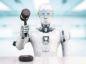 3d rendering robot holding gavel judge