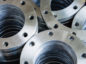 Flanges,welding flange used in industrial water pipes.selective focus.