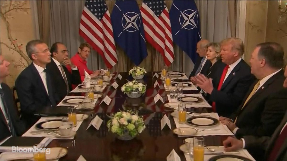 Trump makes claims against Germany at NATO showdown.