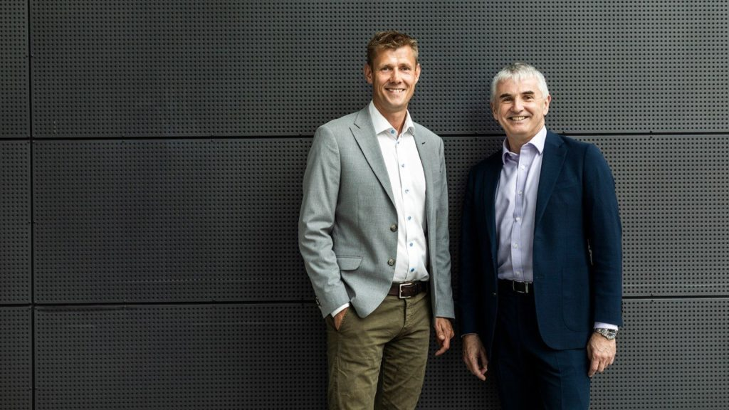 CEO Henrik Lind (left), Danske Commodities, and Tor Martin Anfinnsen, senior vice president, Marketing & Supply in Equinor. (Photo: Thomas Priskorn / PRISKORN)