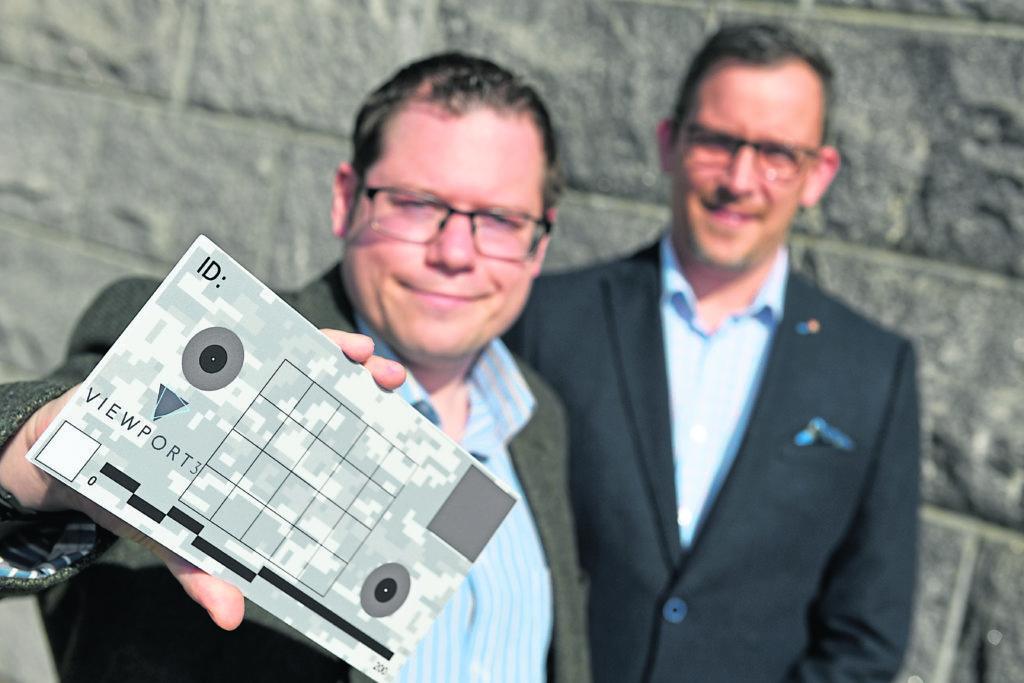SCANNED: Chris Harvey, left, and Richard Drannan of Ellon-based Viewport3