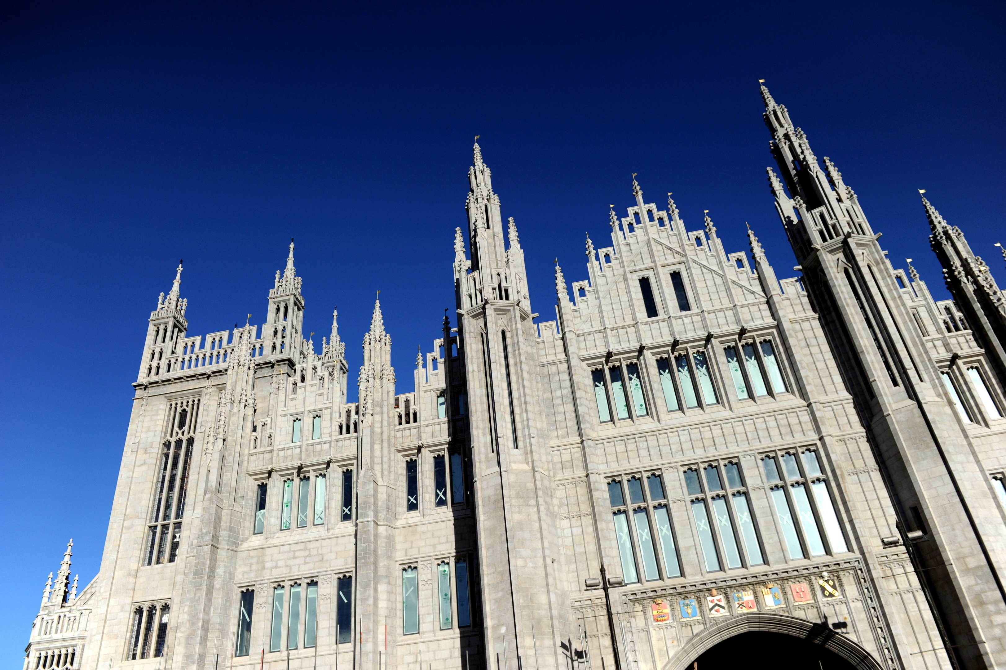 Marischal College, the Aberdeen City Council building.