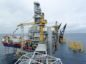 The Johan Sverdrup drilling platform, operated by Equinor ASA, center, and the Haven jack-up accommodation rig, operated by Jacktel AS, a unit of Master Marine AS, stand in the Johan Sverdrup offshore oil field, about 160 kilometers (100 miles) west of Norway's oil capital, Stavanger, Norway, on Wednesday, Aug. 22, 2018. When Sverdrup reaches maximum production of 660,000 barrels a day by the middle of the next decade, it will make up about 40 percent of the country's total oil and gas output, according to Equinor ASA.Photographer: Mikael Holter/Bloomberg