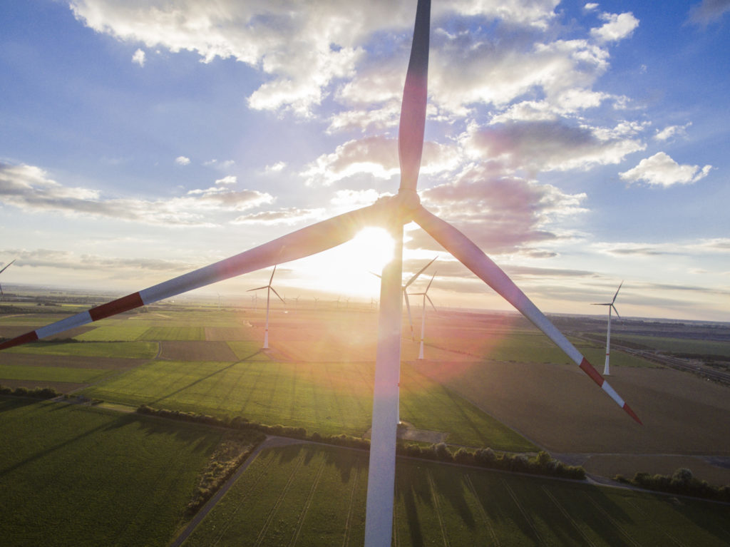 Wind turbines operate on the Innogy SE wind farm in Bedburg, Germany, on Tuesday, Oct. 4, 2016.