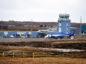 Scatsta Airport, Shetland.