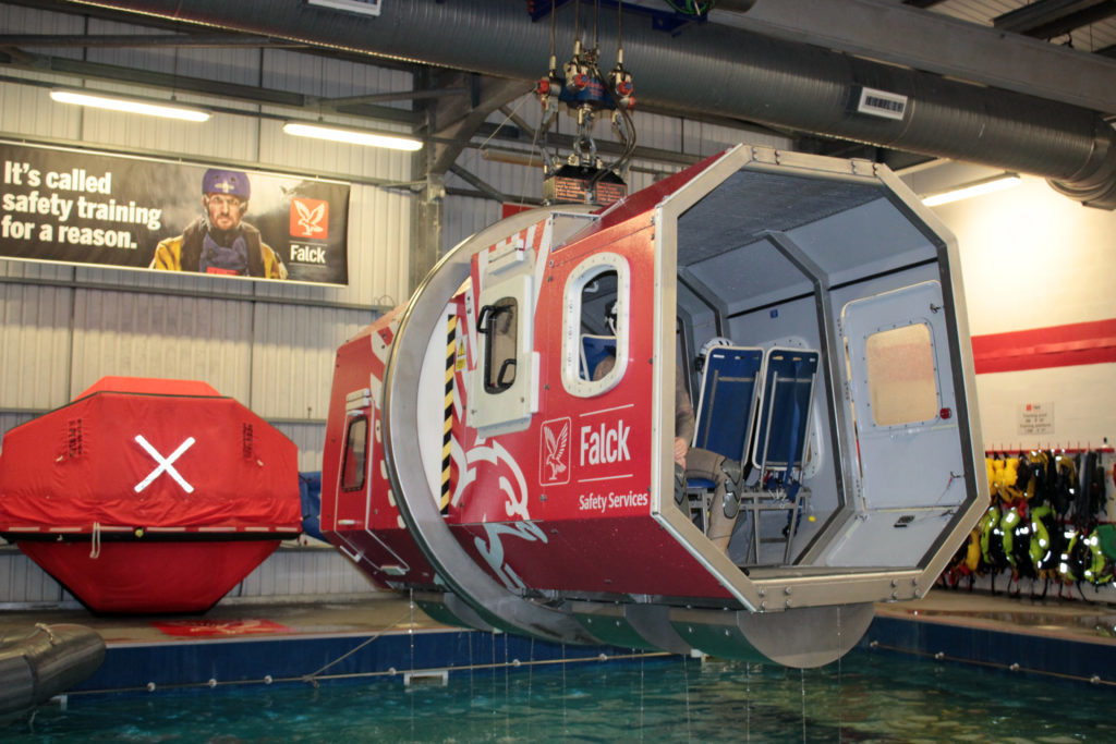 Falck provides safety trainnig to thousands of employees in the North Sea oil and gas sector