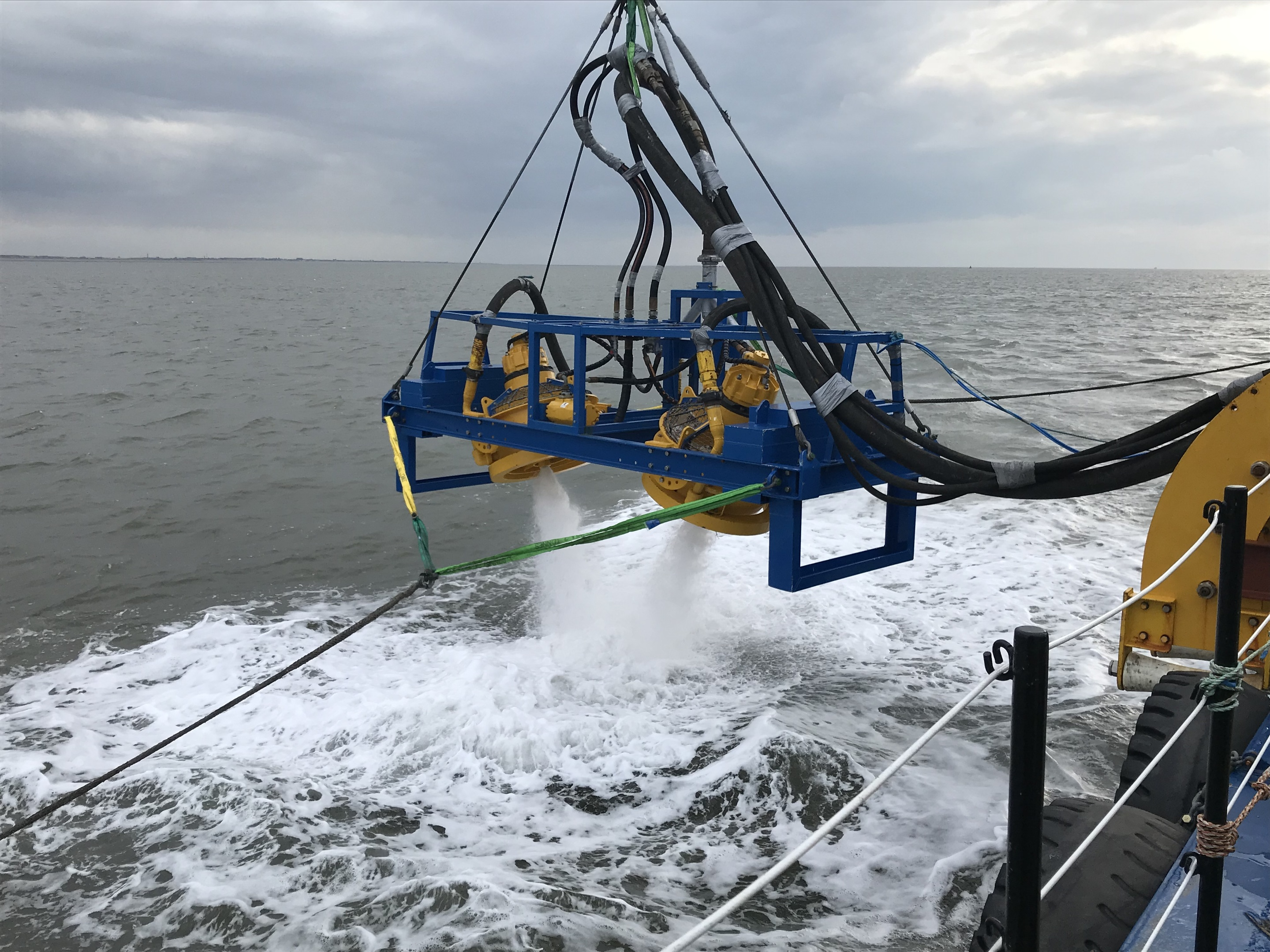 Work continues on the East Anglia One wind farm and James Fisher has been chosen to detect and clear any unexploded ordinance and boulders.