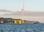 Kincardine Offshore Windfarm towed out past Aberdeen and Stonehaven.