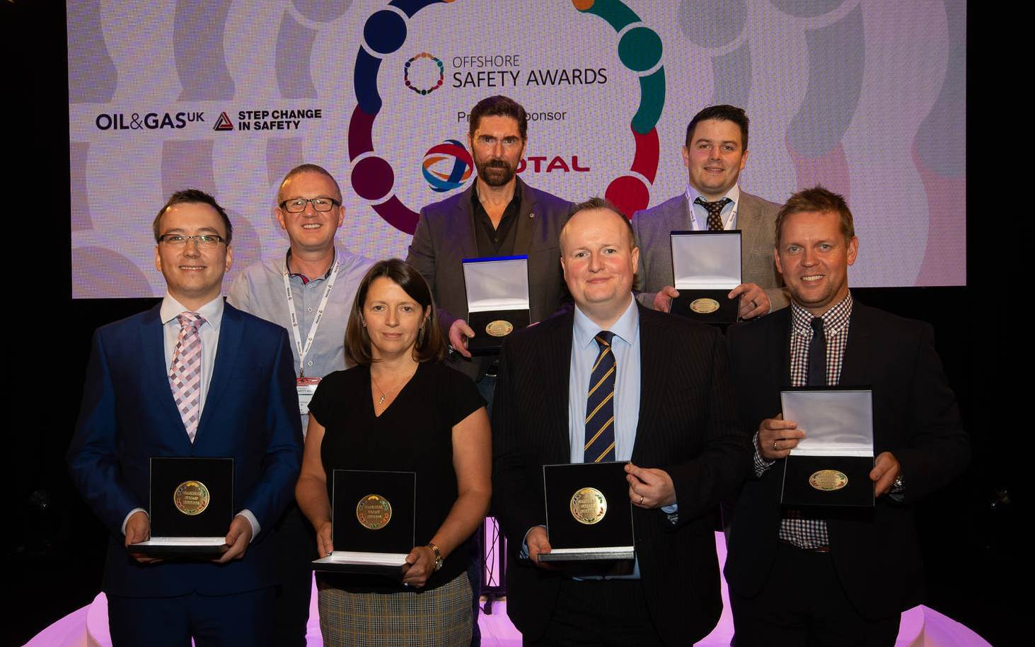 OSA Winners (L-R) Marcin Nazaruk, Alan Dickson, Fiona Fleming, Ian Garden, John Ritchie for ConocoPhillips, William Davidson, James Ellerton