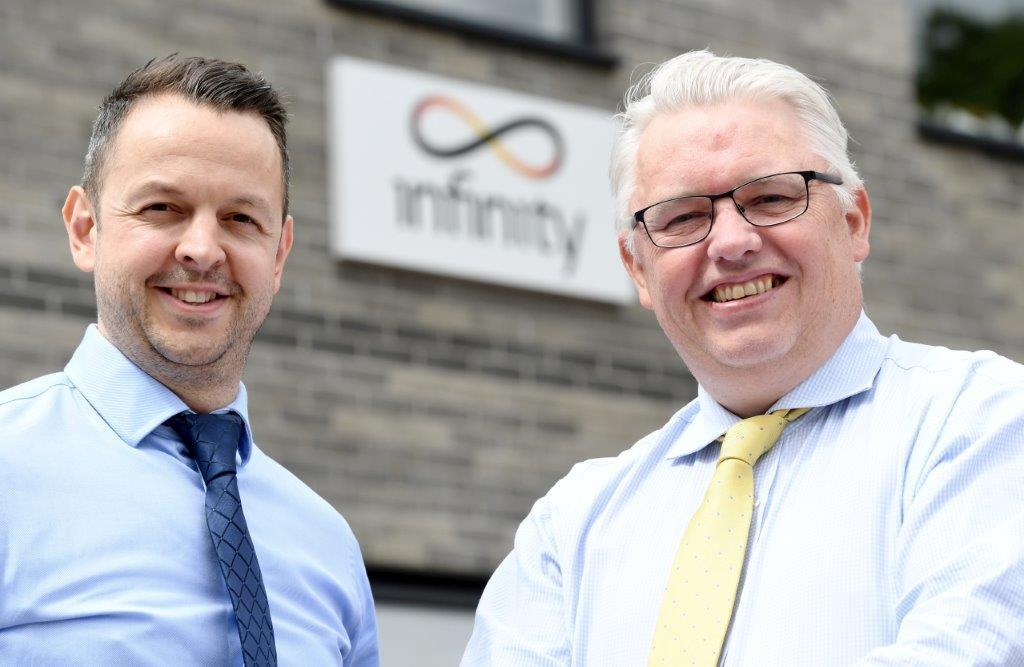 Mark Banks, Infinity business development director, and Andy MacGill engineering director.